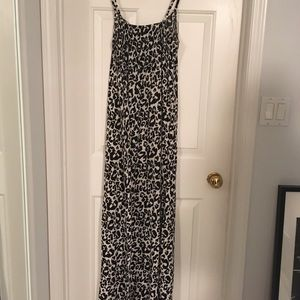 H&M Dresses - Cotton Leopard Maxi Dress